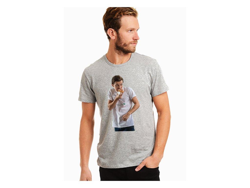 pánské šedé tričko tom holland spiderman