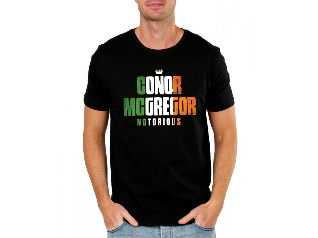 pánské černé tričko notorious conor mcgregor