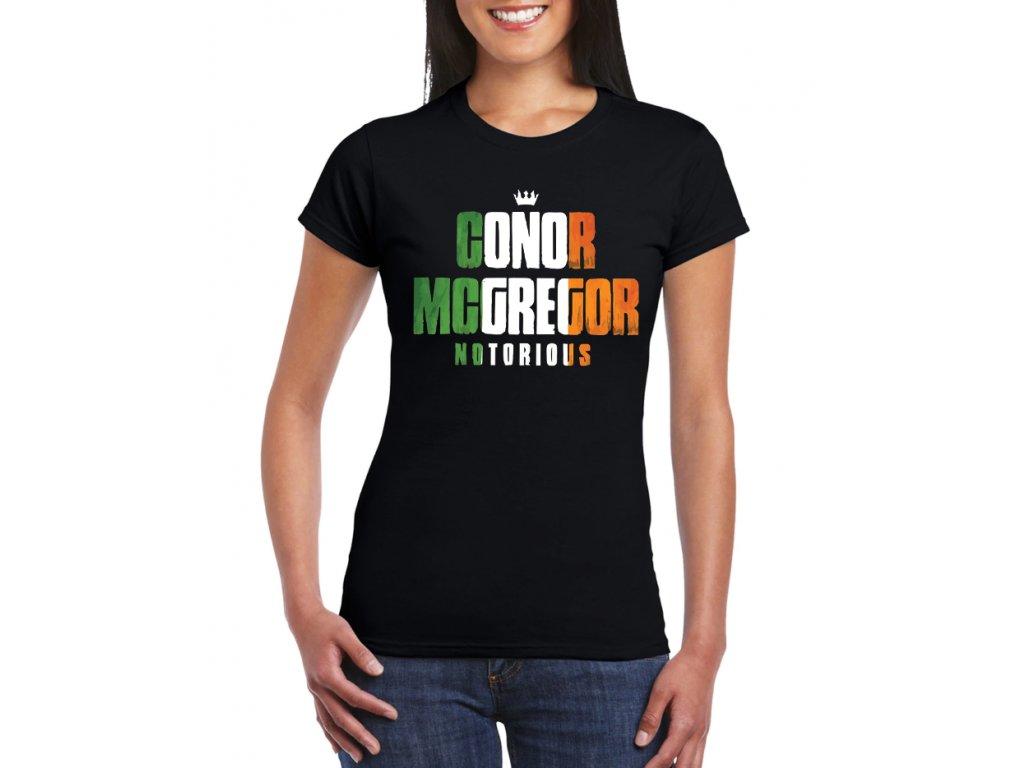 dámské černé tričko notorious conor mcgregor