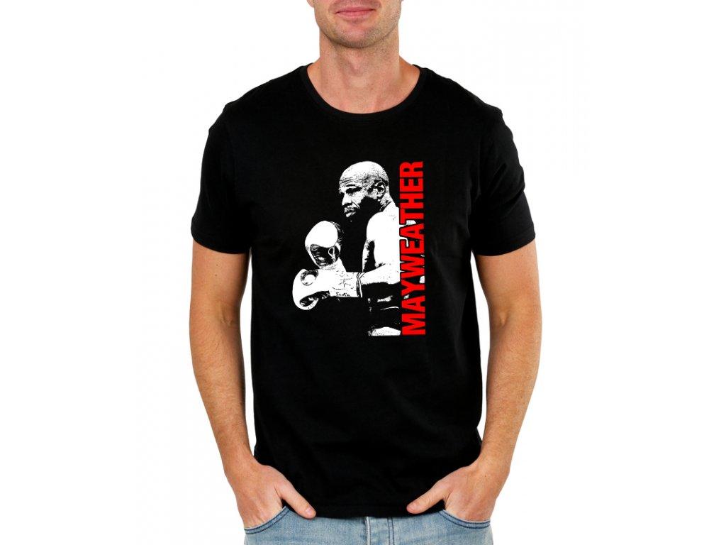 pánské černé tričko floyd mayweather