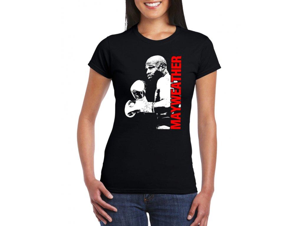 dámské černé tričko floyd mayweather