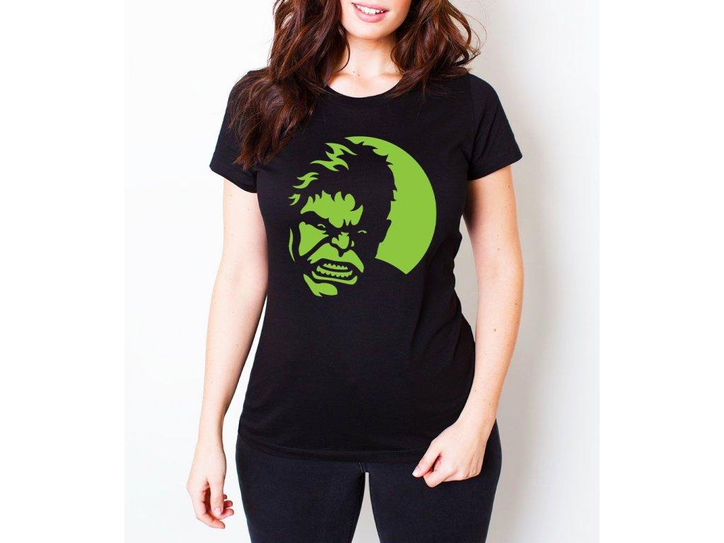 dámské černé tričko hulk