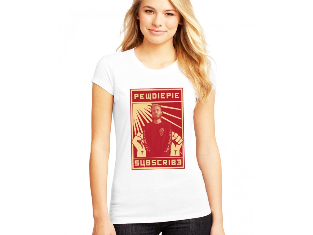 dámské bílé tričko pewdiepie odběratelé