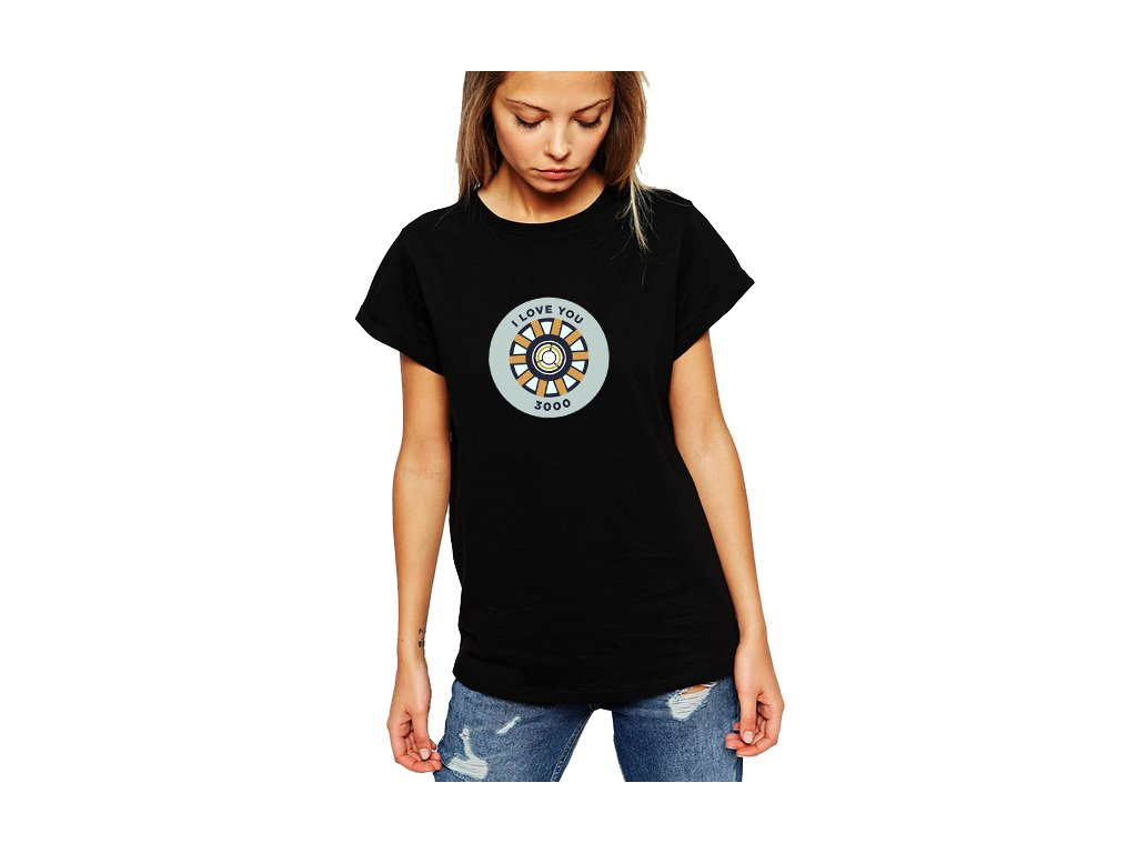 Dámské tričko Ironman miluji tě 3000