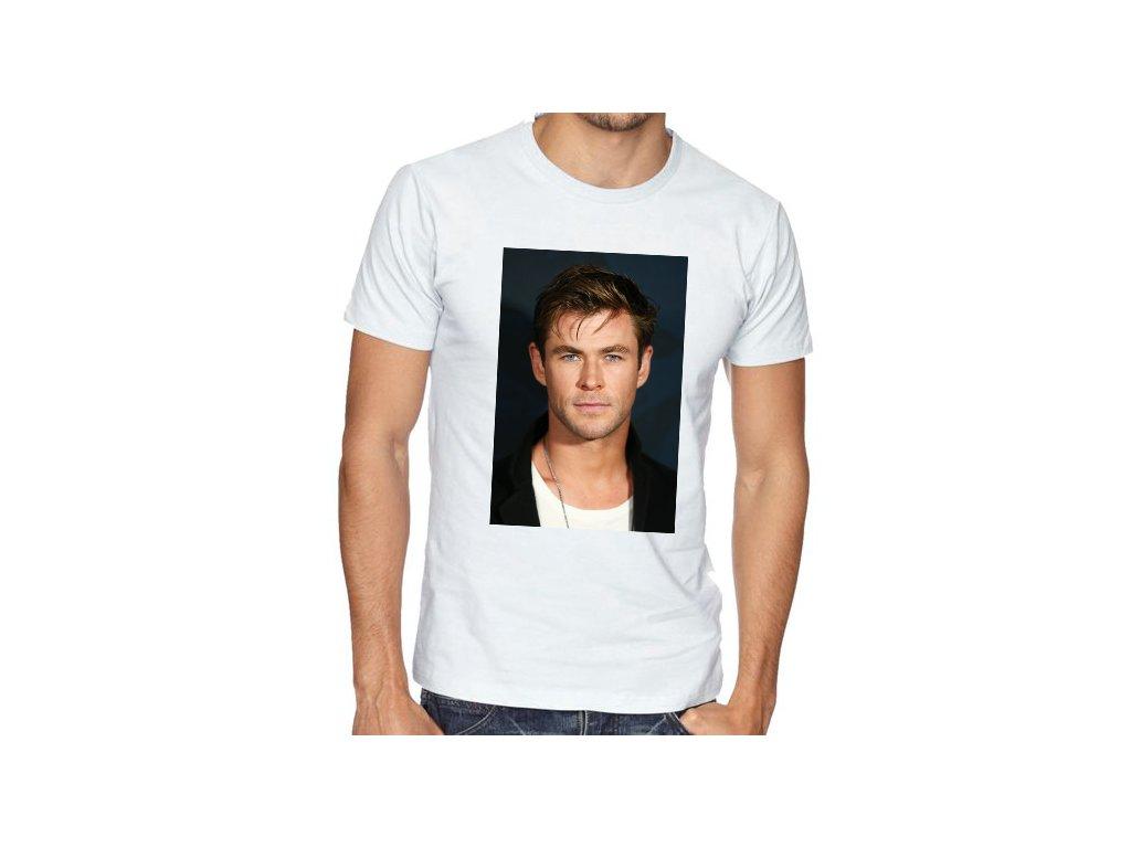 Pánské bílé tričko chris hemsworth
