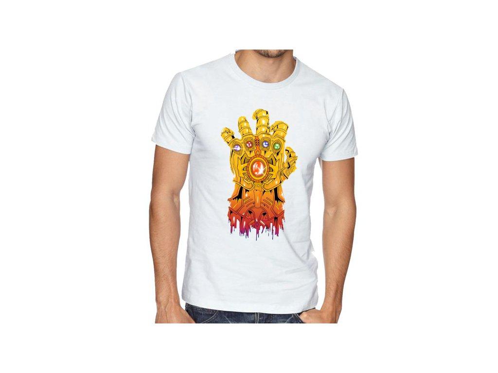 Pánské tričko Thanos rukavice