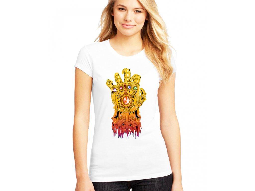 Dámské tričko Thanos rukavice