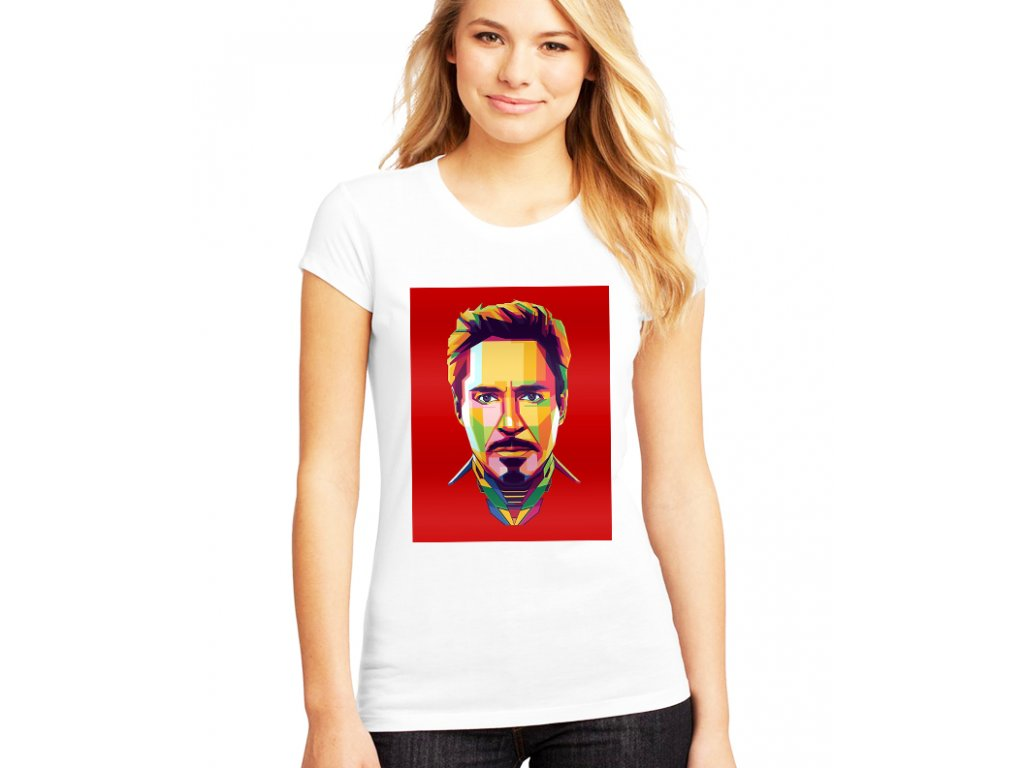 Dámské tričko RDJ Iron man
