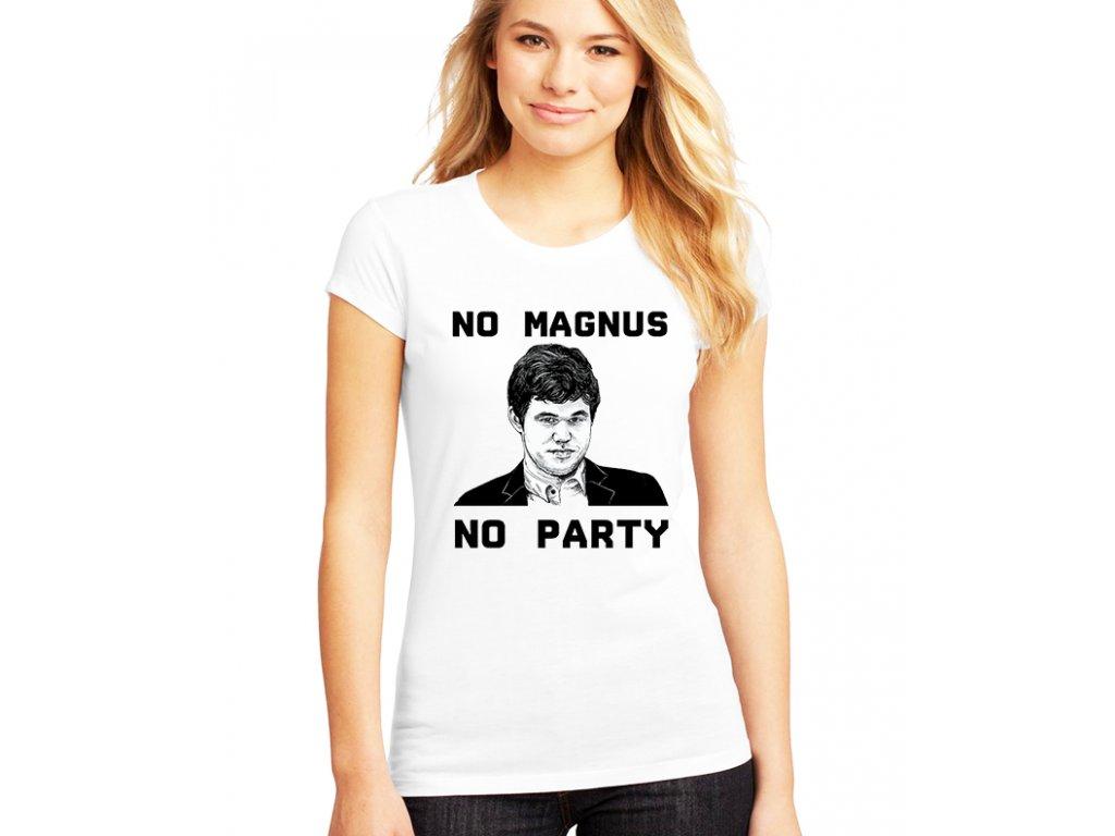 Dámské tričko magnus carlsen šachy