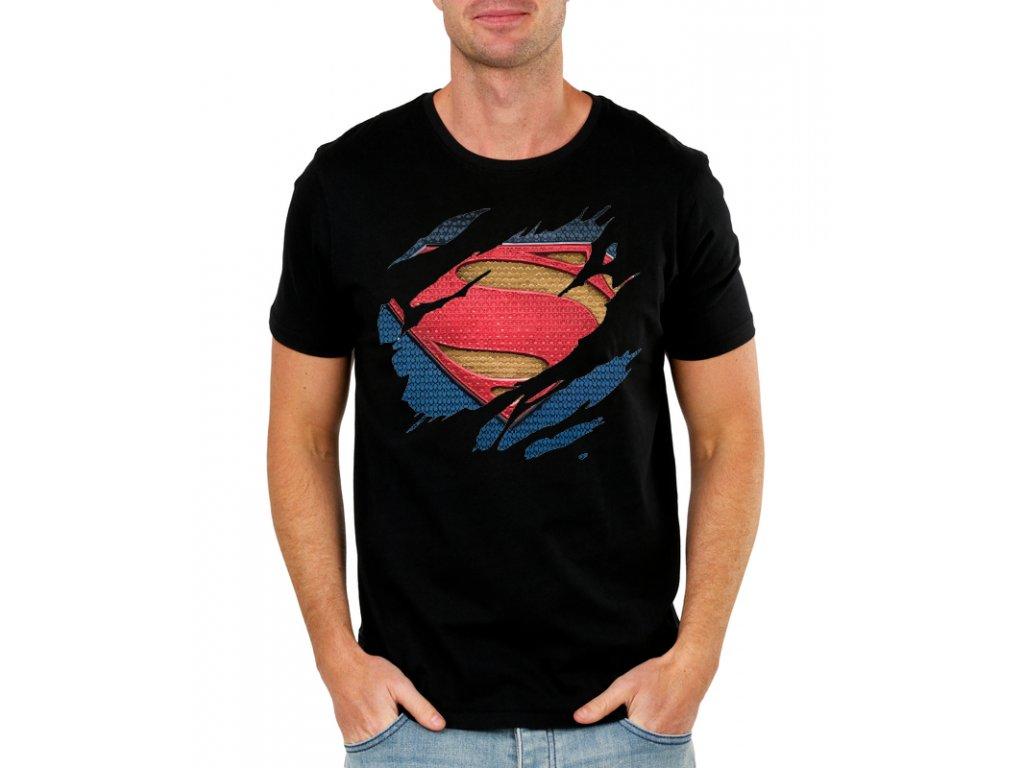 pánské černé tričko superman - DC comics