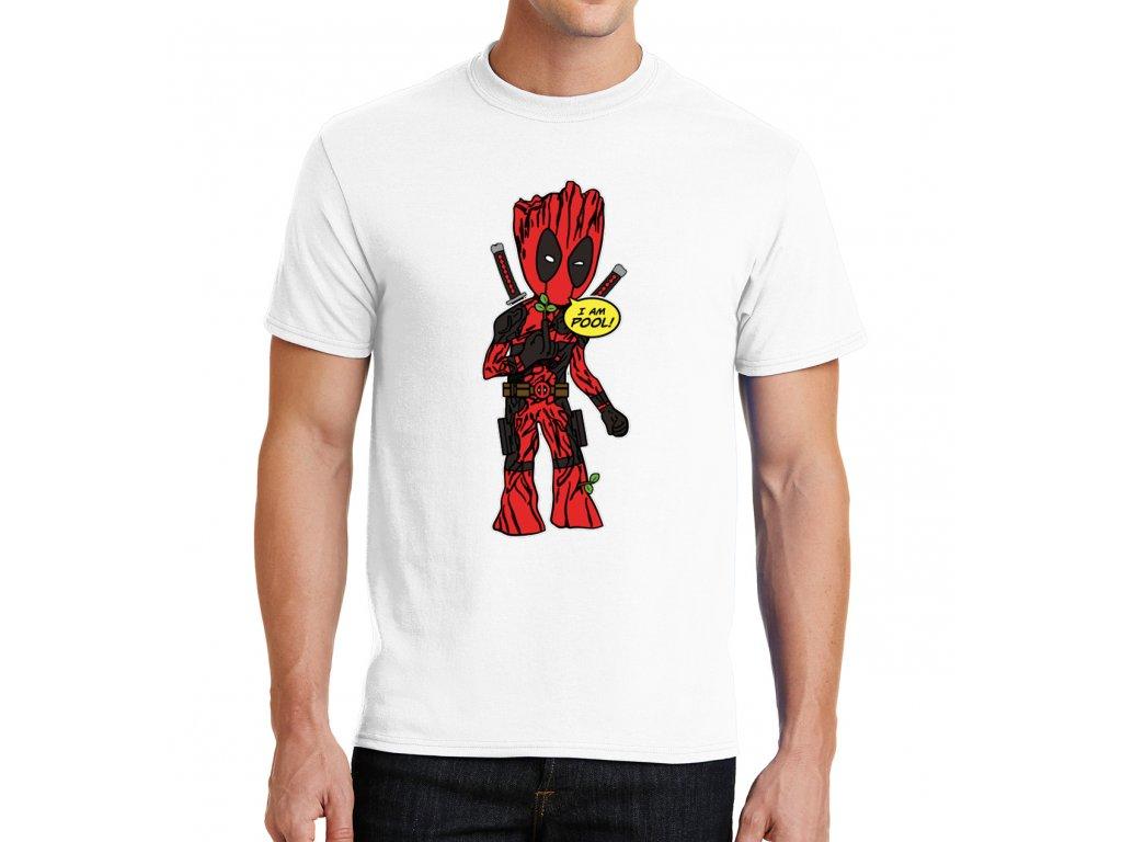 panske tričko Deadpool a Groot