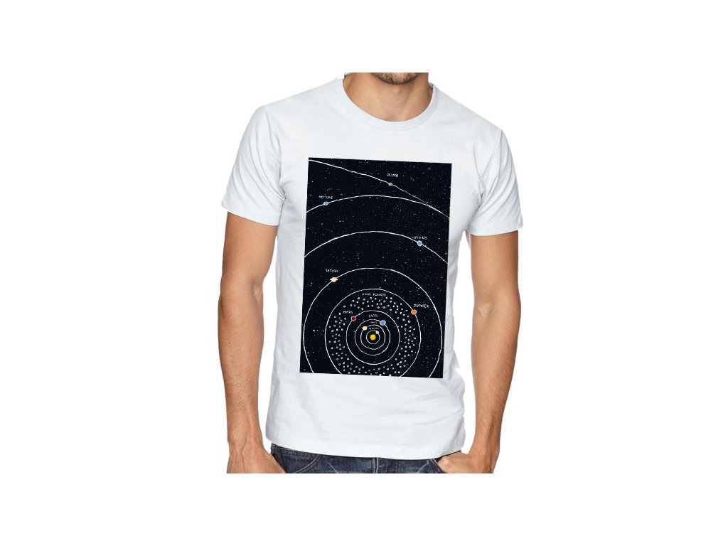 pánské tričko vesmír solární soustava