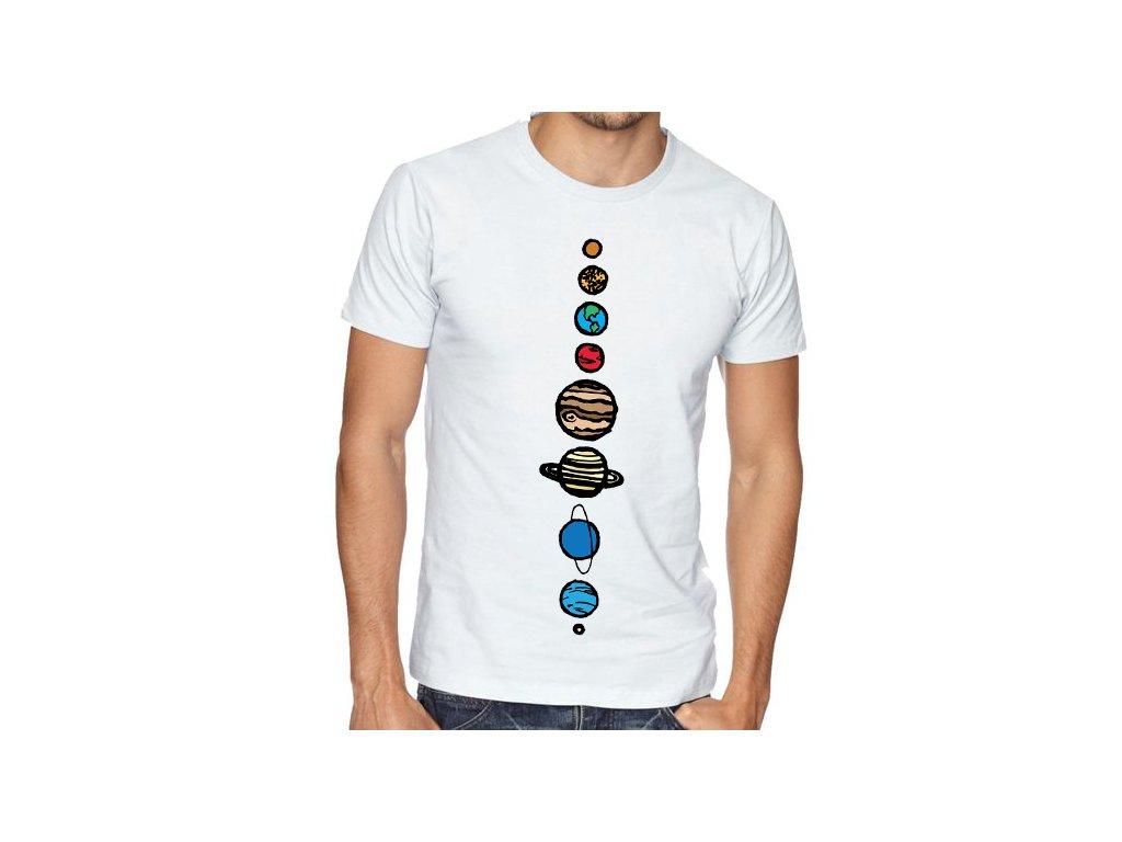 pánské tričko vesmír 9 planet