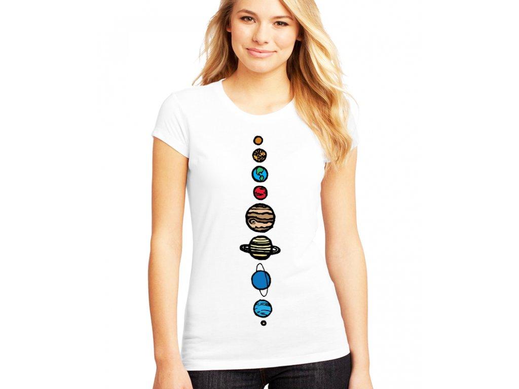 dámské tričko vesmír 9 planet