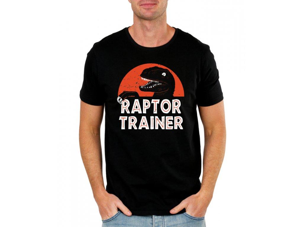 panske tričko Jurský Park Raptor Trainer