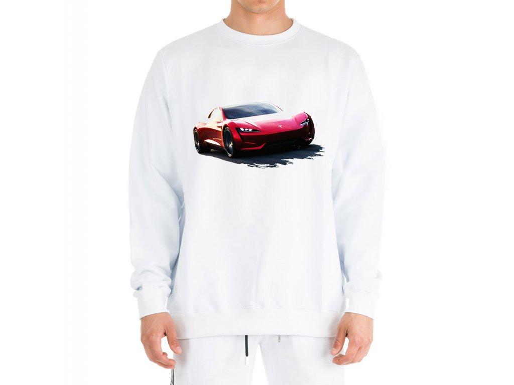 mikina bez kapuce Tesla Roadster
