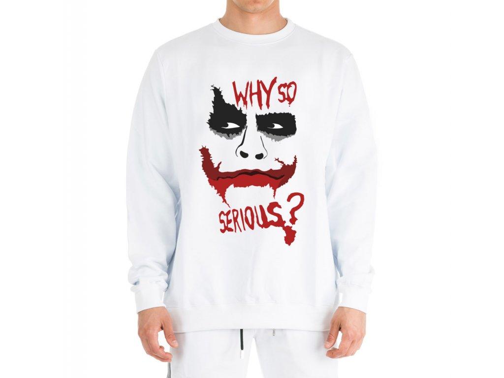 mikina bez kapuce Joker Proč tak vážně
