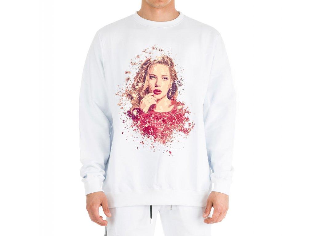 mikina bez kapuce Scarlett Johansson Kresba