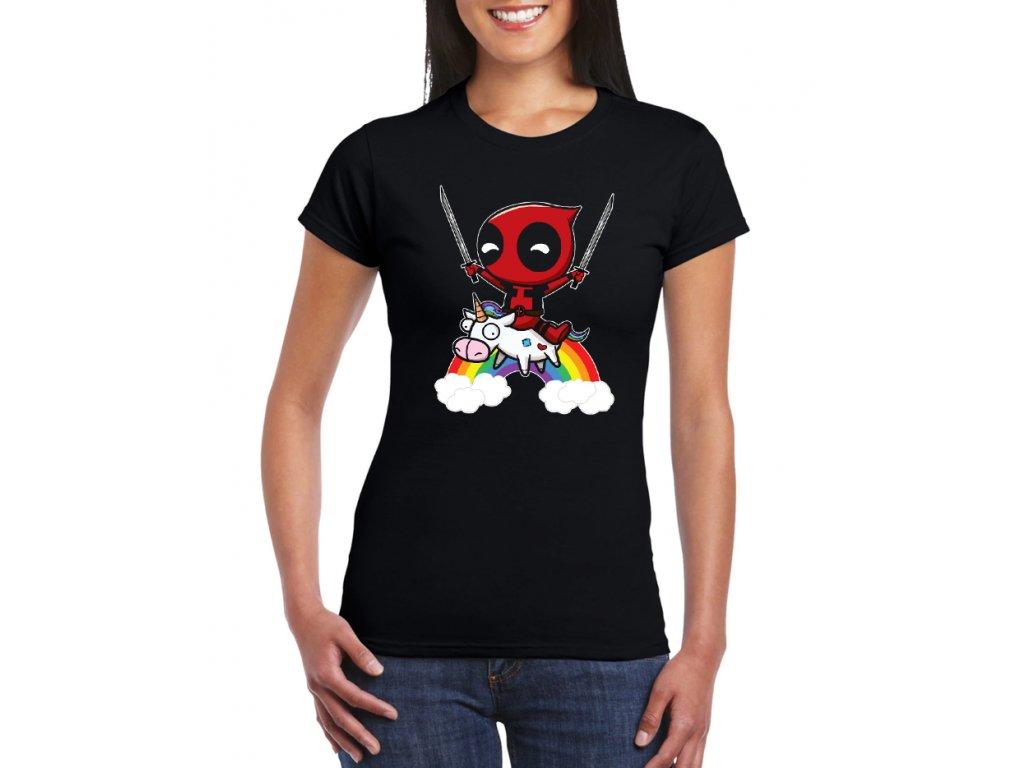 dámské černé tričko deadpool