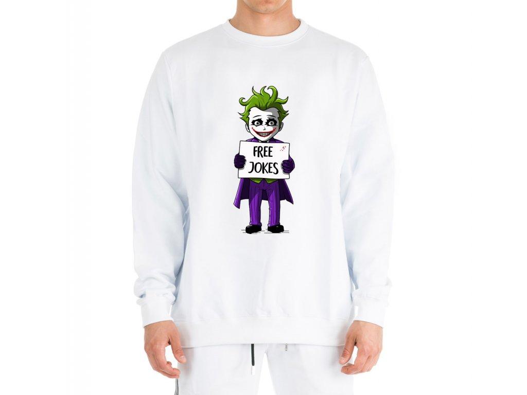 mikina bez kapuce Joker Vtipy Zdarma