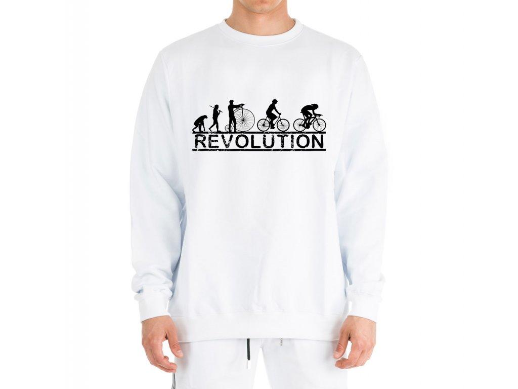 mikina bez kapuce Cyklistika Revoluce