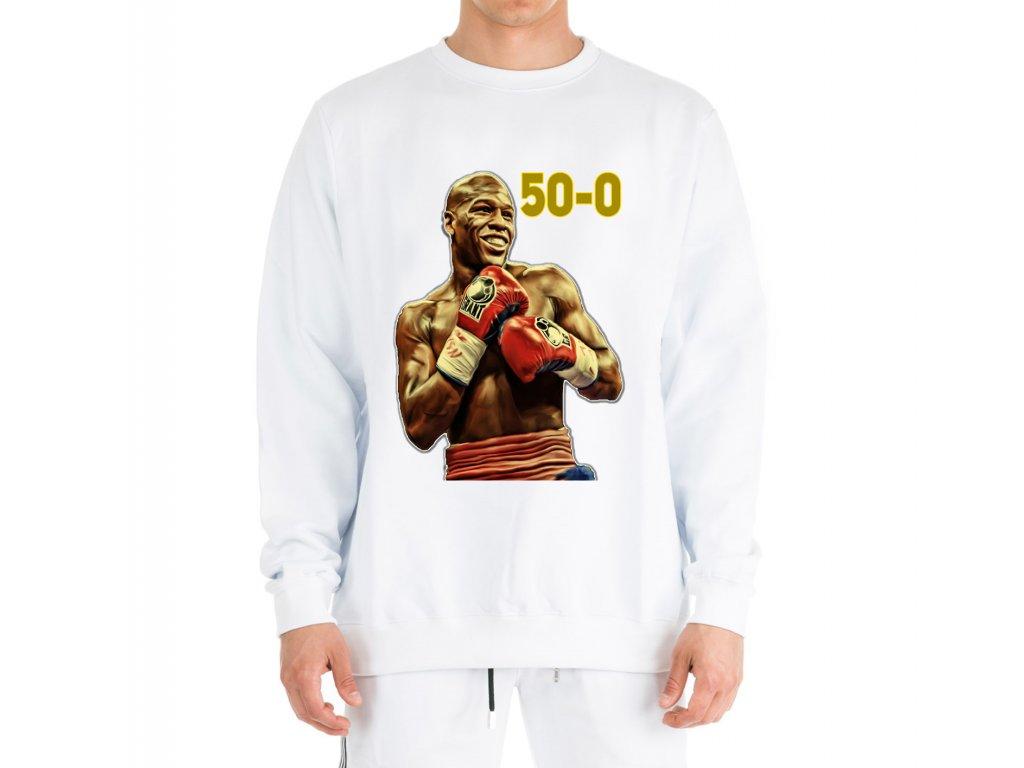mikina bez kapuce Floyd Mayweather 50 0
