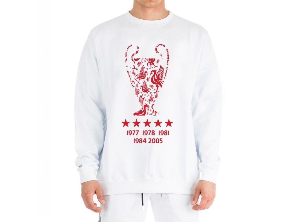 mikina bez kapuce Liverpool FC Vítězové Ligy mistrů