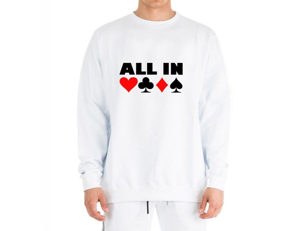 mikina bez kapuce ALL IN Poker
