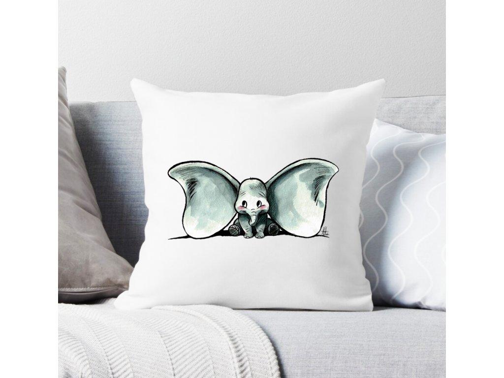 polštář bílý slon dumbo