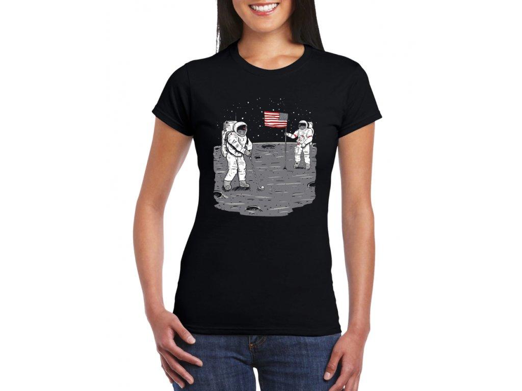 dámské černé tričko golf na měsíci