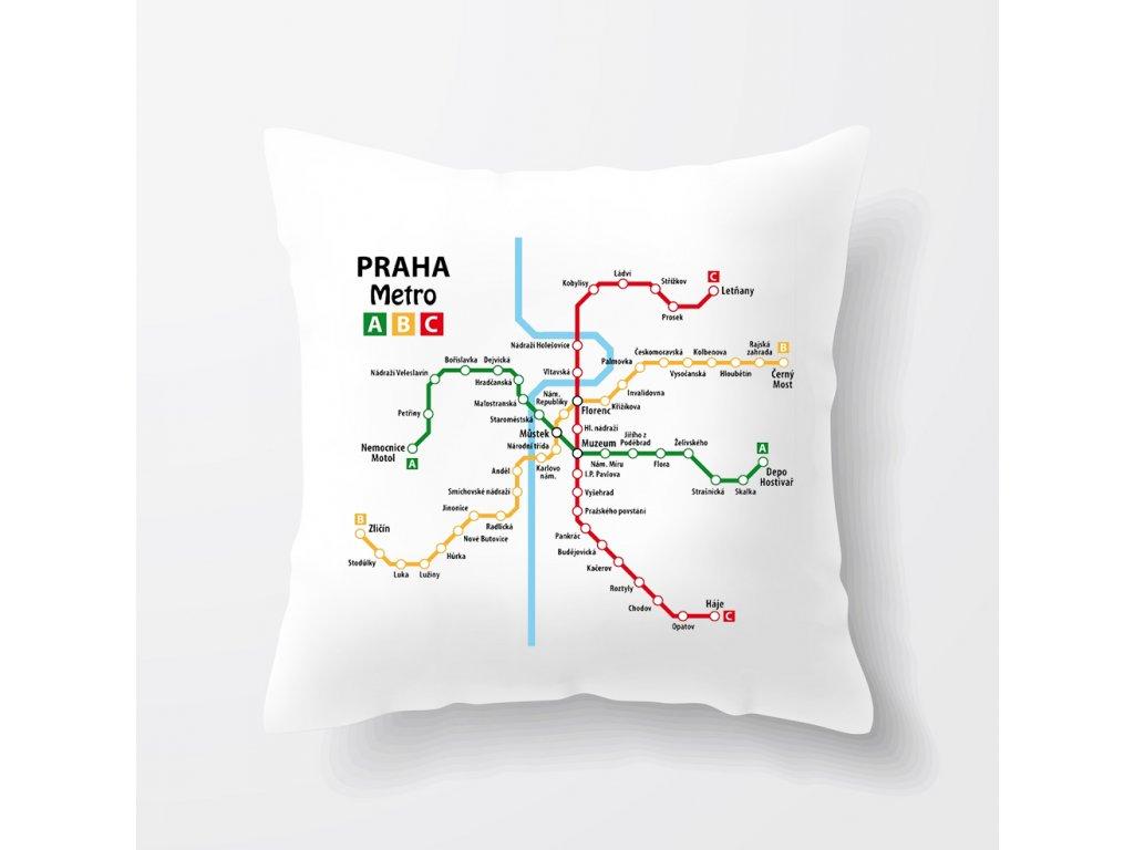 polštář Praha Metro
