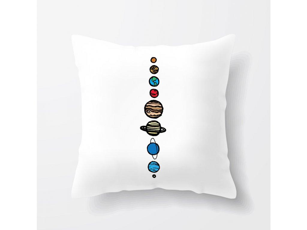 polštář Vesmír 9 planet