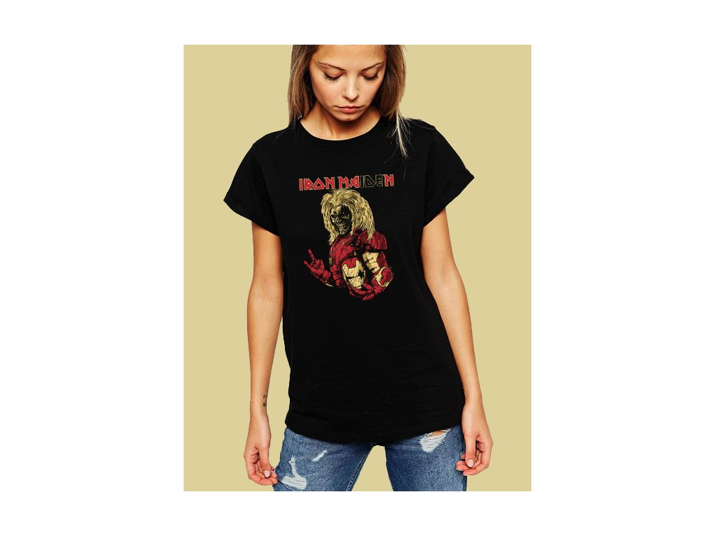 dámské tričko iron maiden s motivem iron man