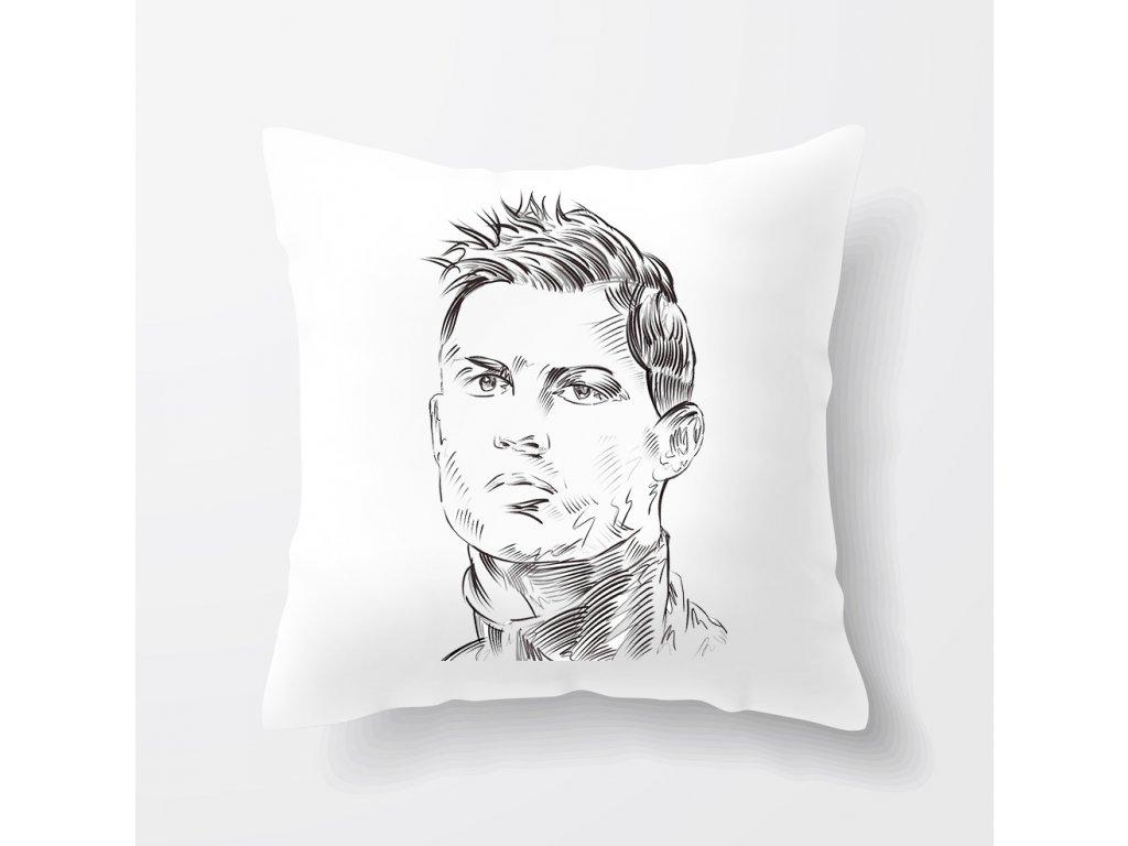 polštář Cristiano Ronaldo Obličej