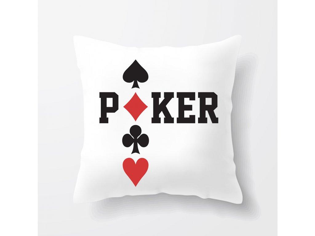 polštář Poker Káry Piky Kříže Srdce