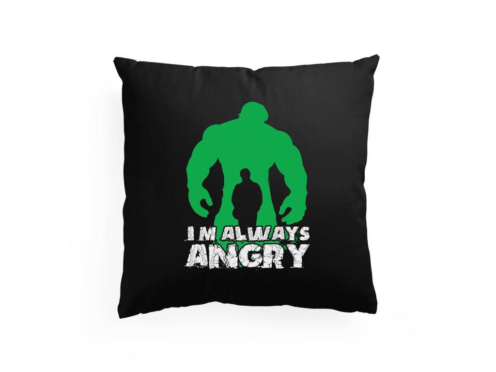 polštář Hulk pořád jsem naštvaný
