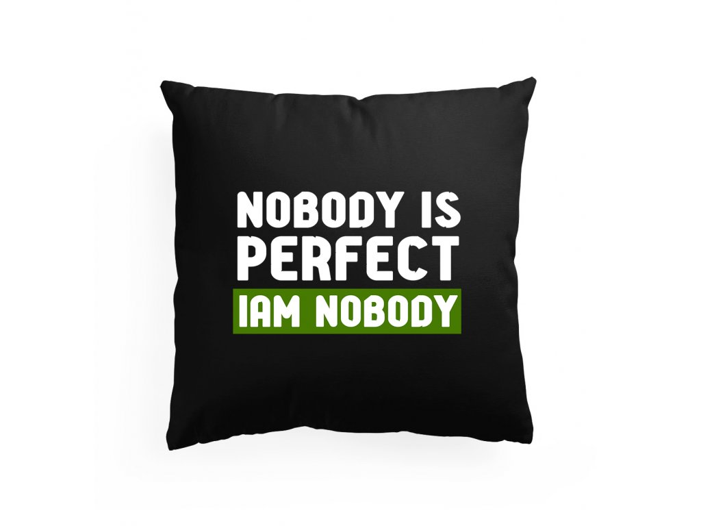 polštář Nikdo není dokonalý
