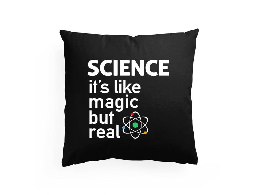 polštář Věda jsou něco jako kouzla ale skutečná
