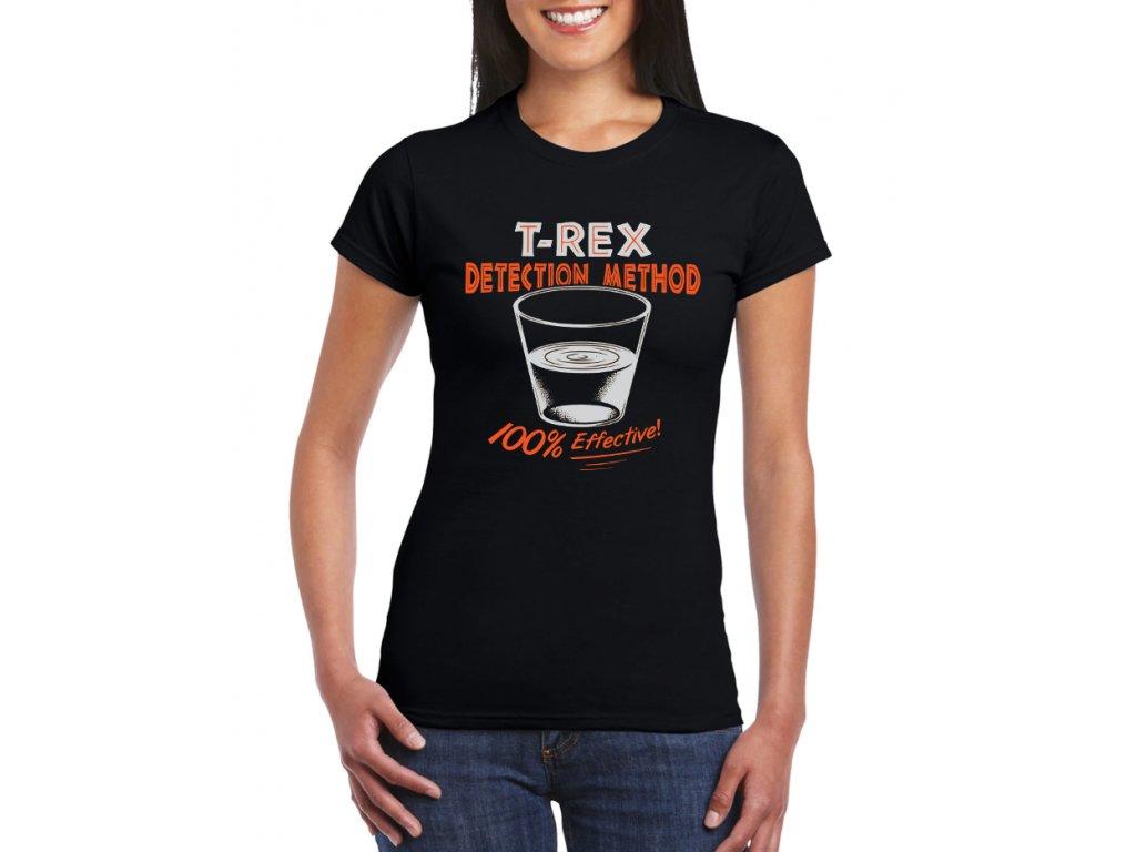 Dámské černé tričko T Rex