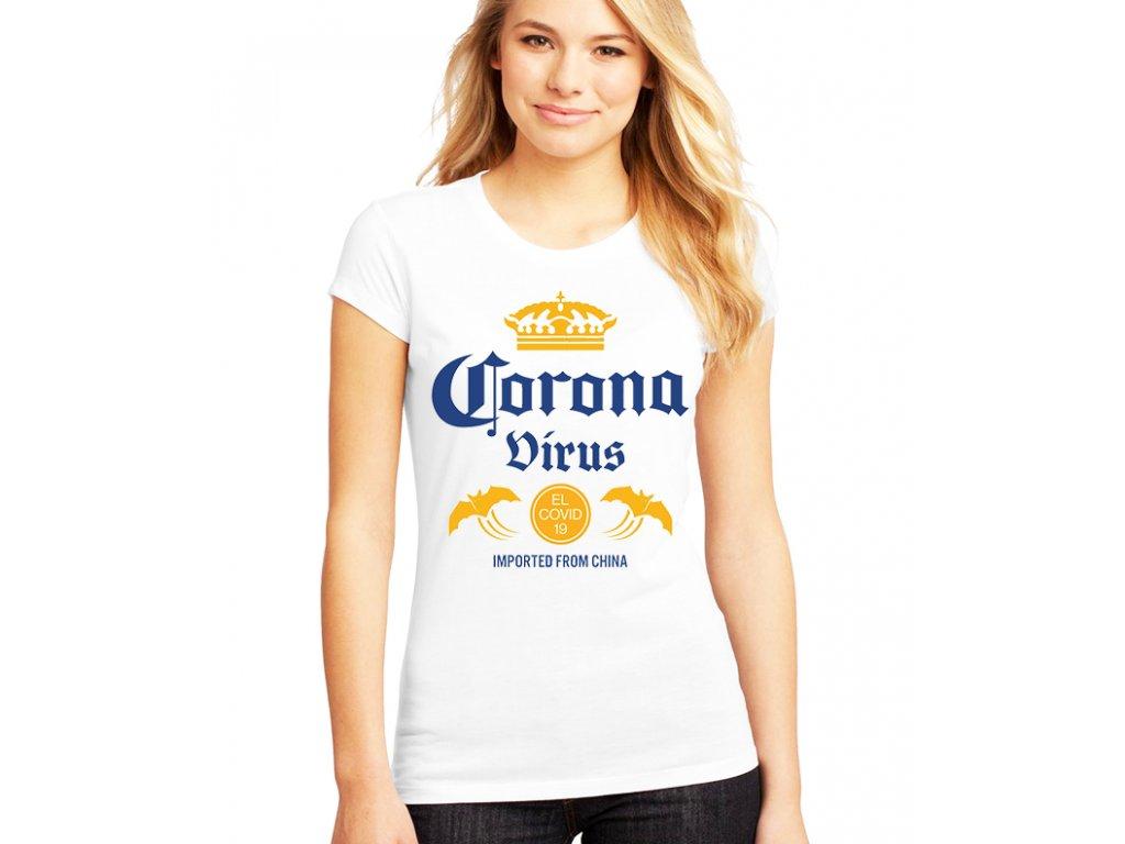 dámské tričko coronavirus