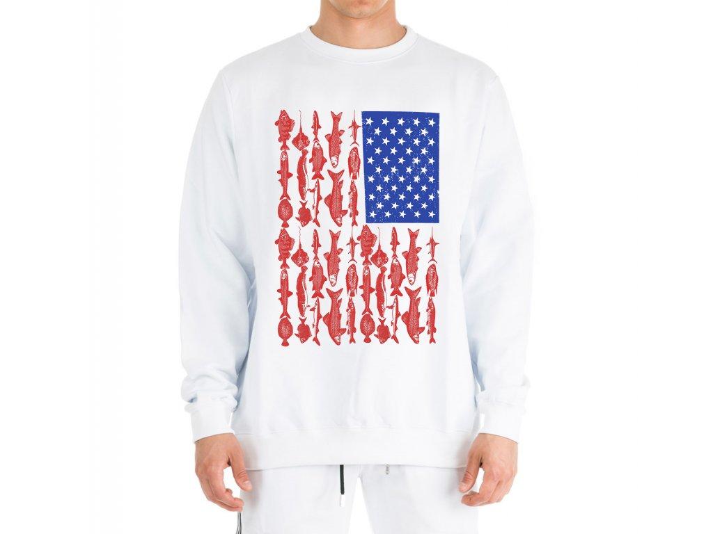 mikina rybaření americká vlajka
