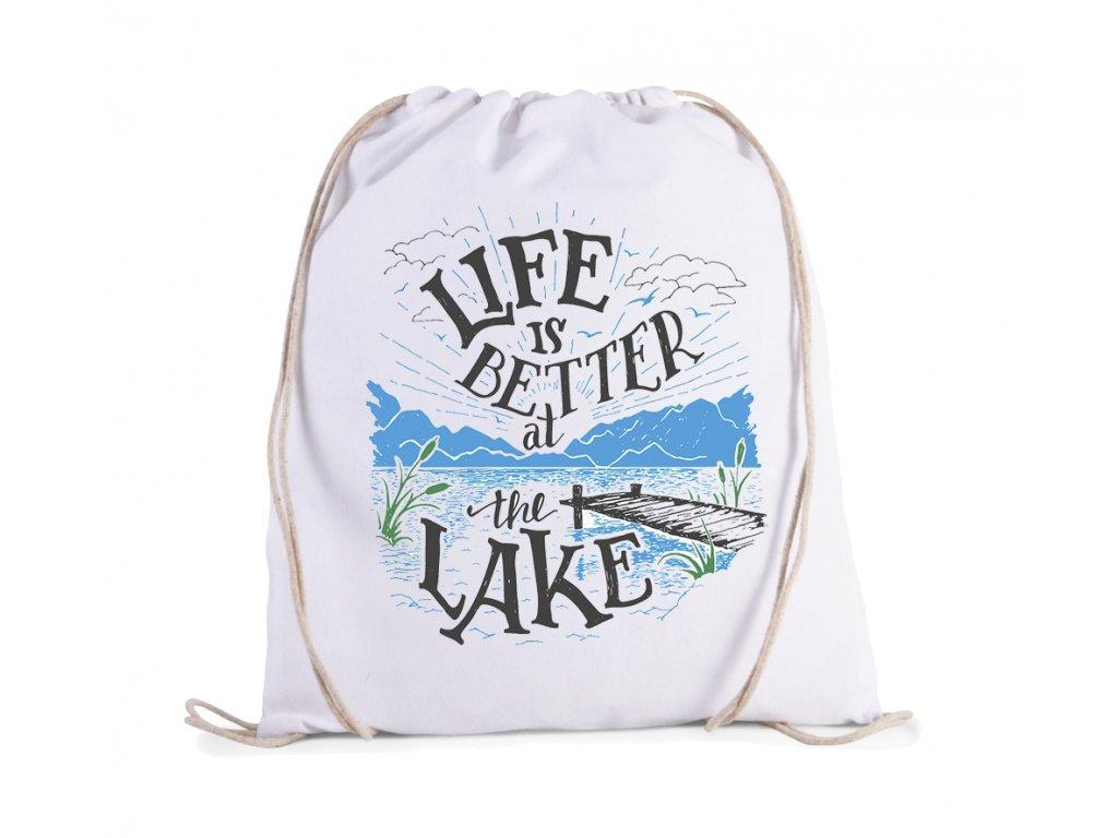 Vak rybaření život je lepší u jezera