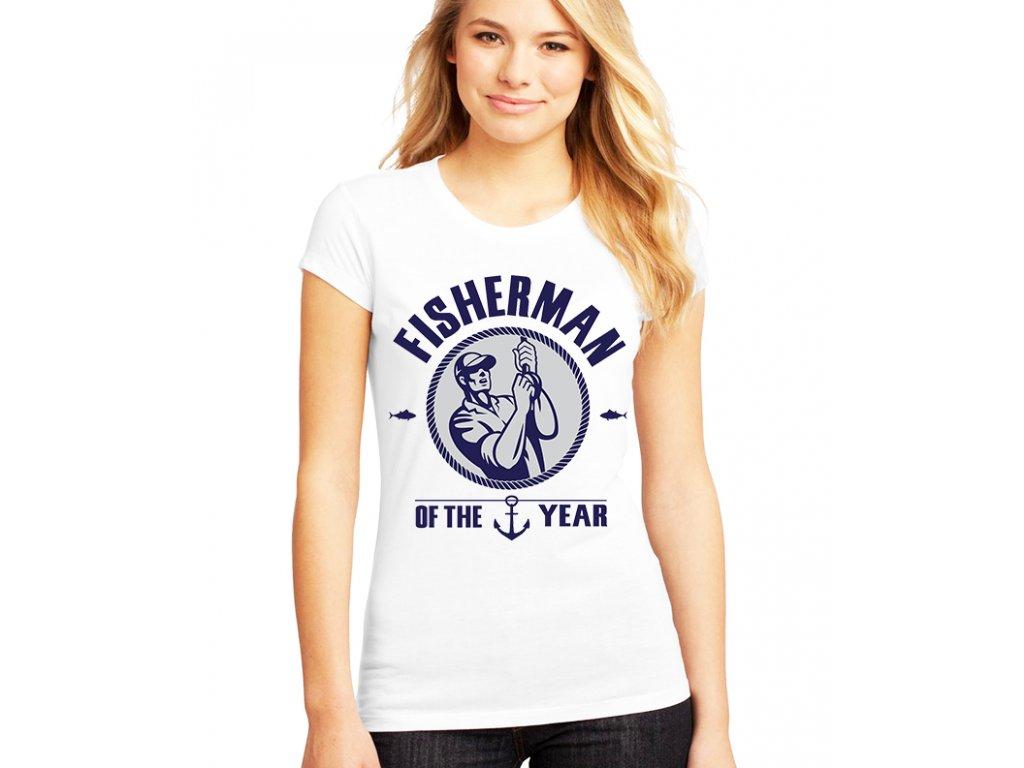 Dámské tričko Rybář roku