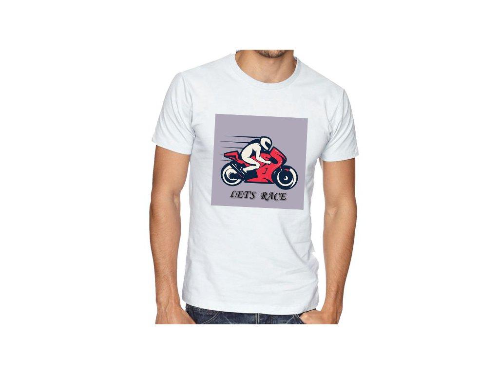 Pánské tričko Motorkář závodník