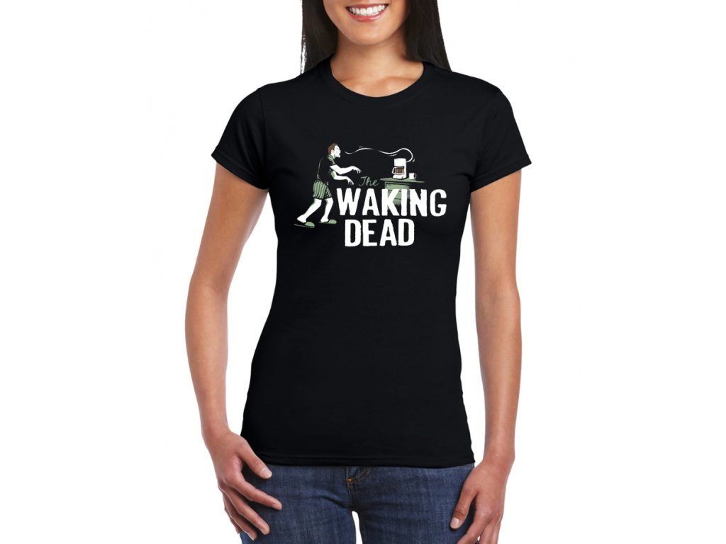 Dámské černé tričko Walking Dead Parodie