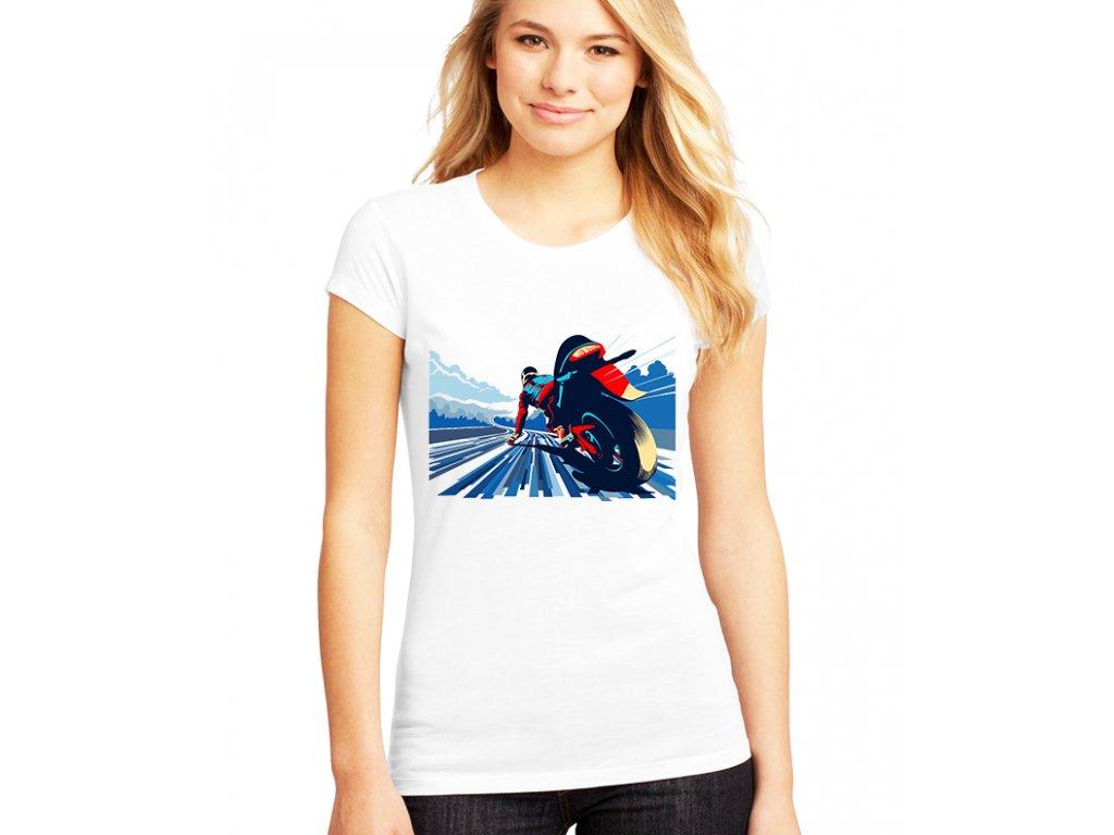 Dámské tričko Motorkář závod
