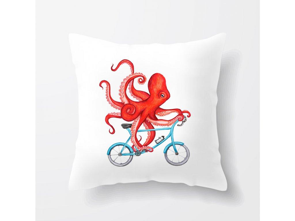 Polštář Cyklista Chobotnice