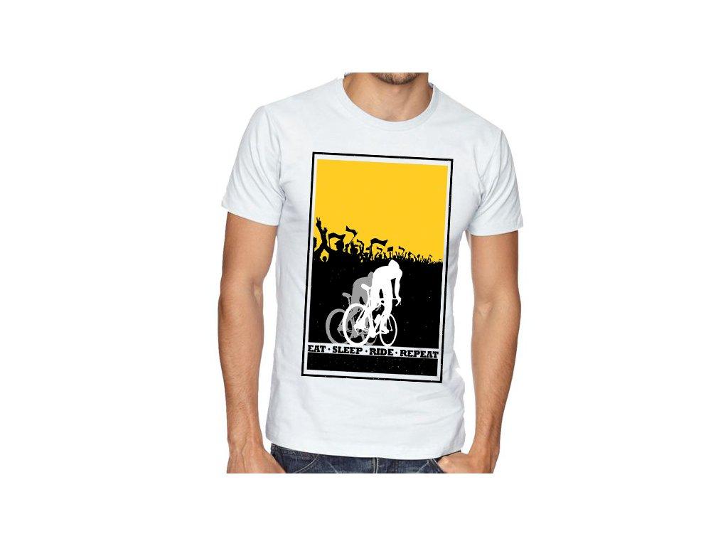 Pánské tričko Cyklista Najít Vyspat Jezdit Opakovat