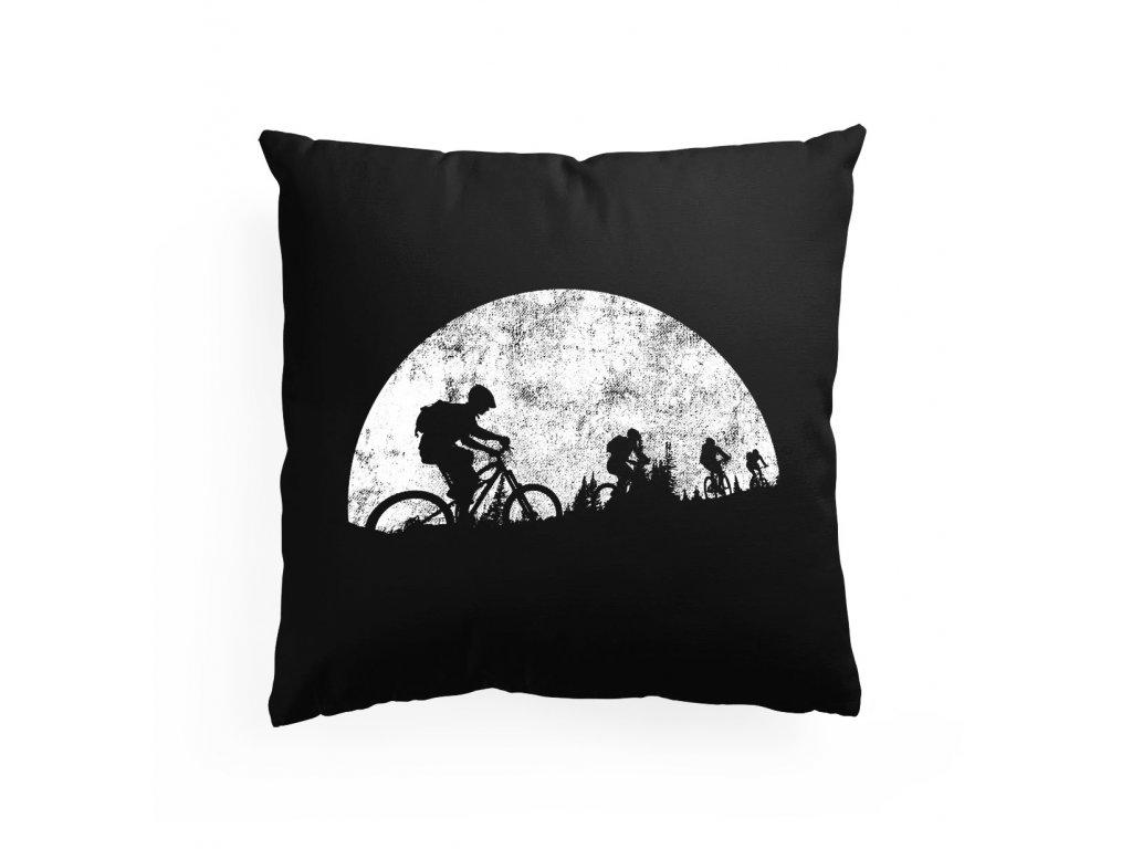 Polštář Měsíční jízda cyklistika