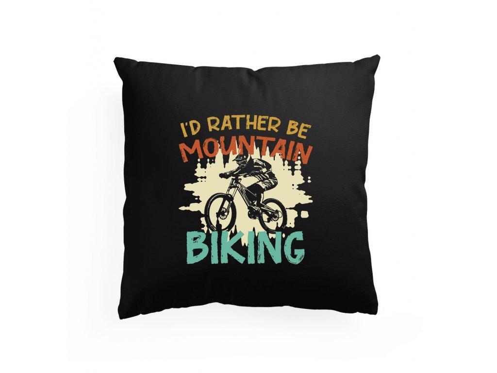 Polštář Raději budu jezdit na kole